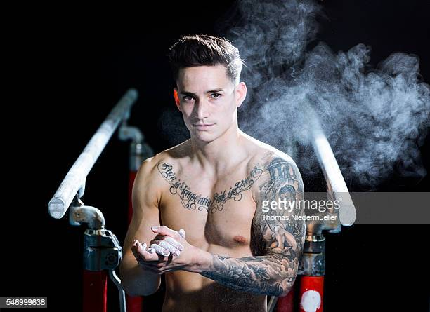 Marcel Nguyen poses during a portrait session at KunstTurnForum on May 11 2016 in Stuttgart Germany