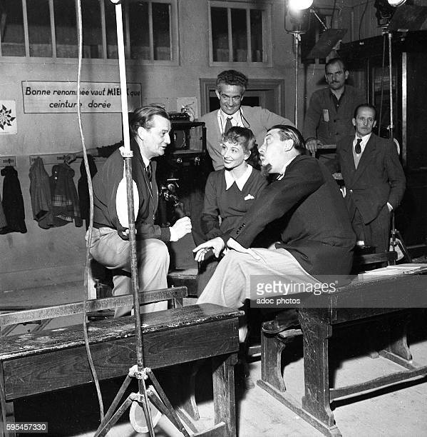 Marcel Pagnol and Fernandel on the shooting of the film 'Topaze' In 1951