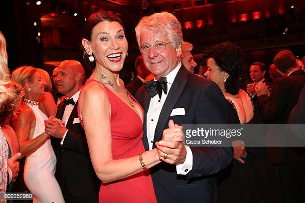 Marcel Reif and his wife Dr Marion Kiechle dance during the Leipzig Opera Ball 'Let's dance Dutch' at alte Oper on September 10 2016 in Leipzig...