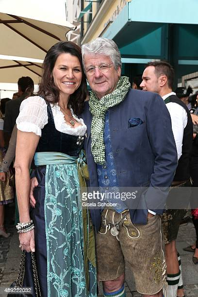 Marcel Reif and his wife Dr Marion Kiechle during the 'Fruehstueck bei Tiffany' at Tiffany Store ahead of the Oktoberfest 2015 on September 19 2015...