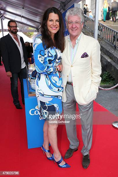 Marcel Reif and his wife Prof Marion Kiechle attend the Movie meets Media party during the Munich Film Festival on June 29 2015 in Munich Germany
