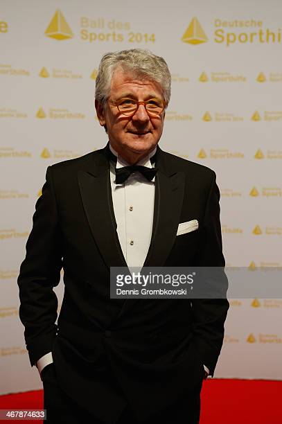 Marcel Reif poses on his arrival at the Ball des Sports 2014 at RheinMainHalle on February 8 2014 in Wiesbaden Germany