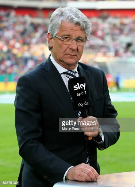 Marcel Reif TV moderator of sky sport poses prior to the DFB Cup first round match between Fortuna Duesseldorf and Hamburger SV at the esprit Arena...