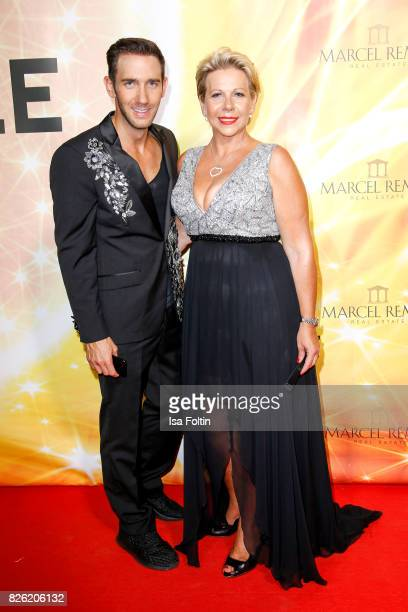 Marcel Remus and his mother Silke Remus attend the Remus Lifestyle Night on August 3 2017 in Palma de Mallorca Spain