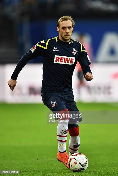Marcel Risse of Cologne in action during the Bundesliga match between Hamburger SV and 1 FC Koeln at Volksparkstadion on February 7 2016 in Hamburg...