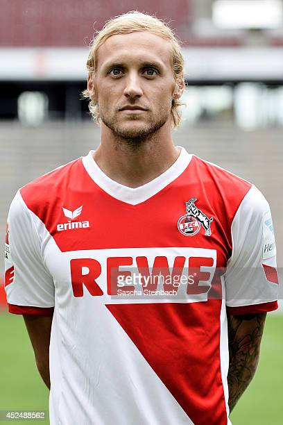 Marcel Risse poses during 1 FC Koeln team presentation at RheinEnergieStadion on July 21 2014 in Cologne Germany