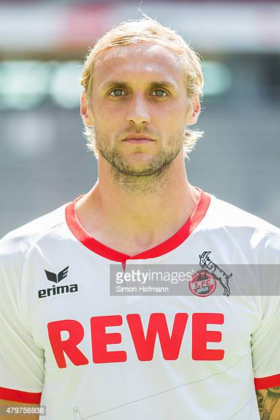 Marcel Risse poses during 1 FC Koeln Team Presentation at RheinEnergieStadion on July 6 2015 in Cologne Germany