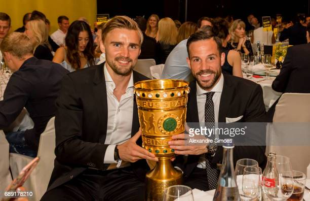 Marcel Schmelzer and Gonzalo Castro of Borussia Dortmund during the Borussia Dortmund Champions Party on May 27 2017 in Berlin Germany