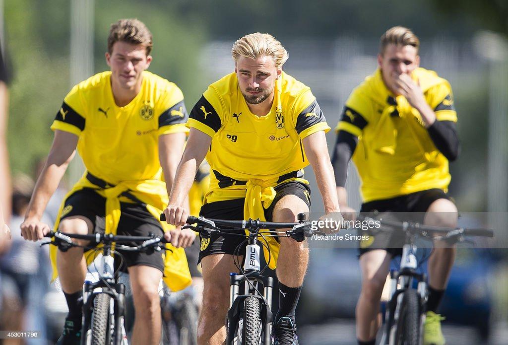 Marcel Schmelzer (BVB) of Borussia Dortmund during a training session on July 31, 2014 in Bad Ragaz, Switzerland.
