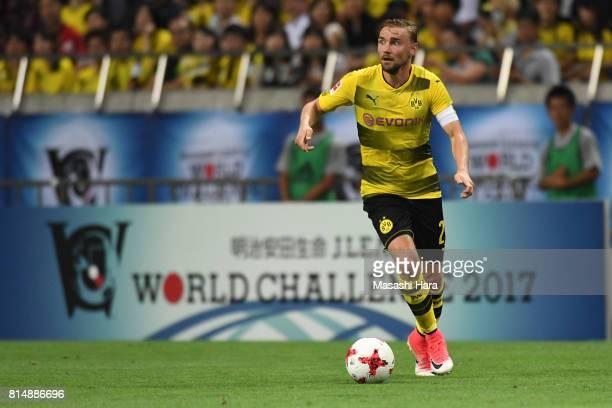 Marcel Schmelzer of Borussia Dortmund in action during the preseason friendly match between Urawa Red Diamonds and Borussia Dortmund at Saitama...