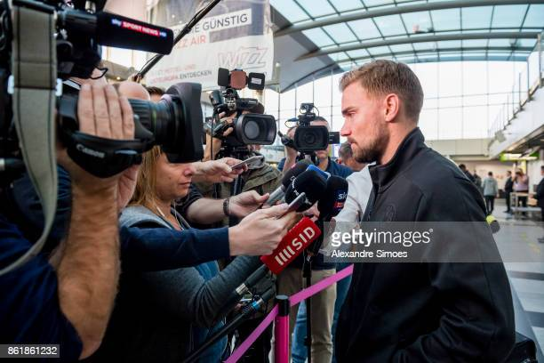 Marcel Schmelzer of Borussia Dortmund is giving interviews before flying to Nicosia for the UEFA Champions League First Qualifying Round 1st Leg...