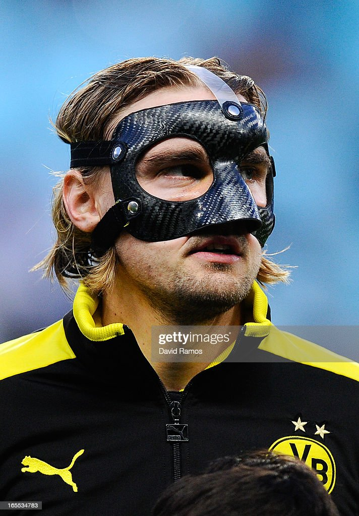 <a gi-track='captionPersonalityLinkClicked' href=/galleries/search?phrase=Marcel+Schmelzer&family=editorial&specificpeople=5443925 ng-click='$event.stopPropagation()'>Marcel Schmelzer</a> of Borussia Dortmund looks on prior to the UEFA Champions League quarter-final first leg match between Malaga CF and Borussia Dortmund at La Rosaleda Stadium on April 3, 2013 in Malaga, Spain.