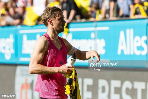 Marcel Schmelzer of Dortmund looks on during the Bundesliga match between FC Augsburg and Borussia Dortmund at the WWKArena on May 13 2017 in...