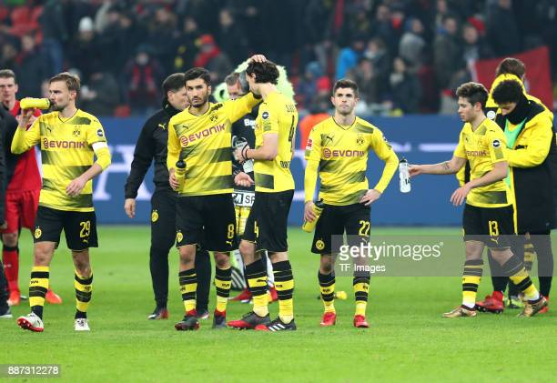 Marcel Schmelzer of Dortmund Nuri Sahin of Dortmund Neven Subotic of Dortmund Christian Pulisic of Dortmund Raphael Guerreiro of Dortmund and Jadon...
