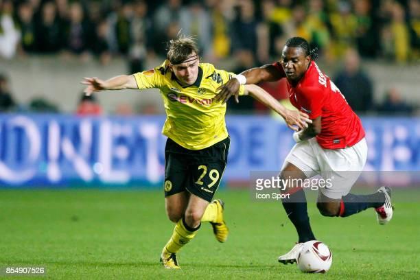 Marcel SCHMELZER / Stephane SESSEGNON PSG / Dortmund Ligue Europa 2010/2011