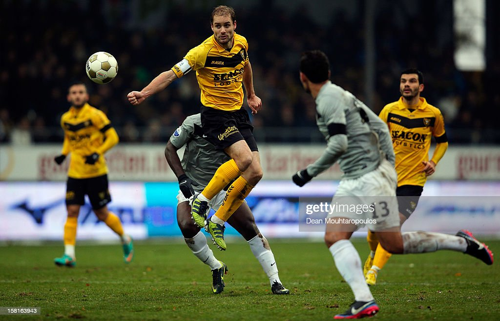 Marcel Seip of Venlo heads the ball during the Eredivisie match between VVV Venlo and Vitesse Arnhem at the Seacon Stadion De Koel on December 9, 2012 in Venlo, Netherlands.