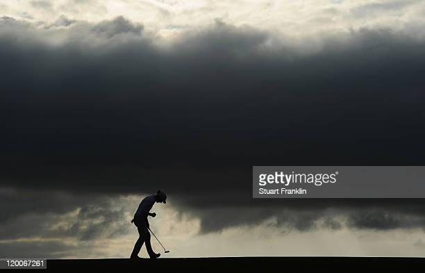 Marcel Siem of Germany celebrates his putt on the 17th hole during the second round of the Discover Ireland Irish Open at the Killarney golf and...