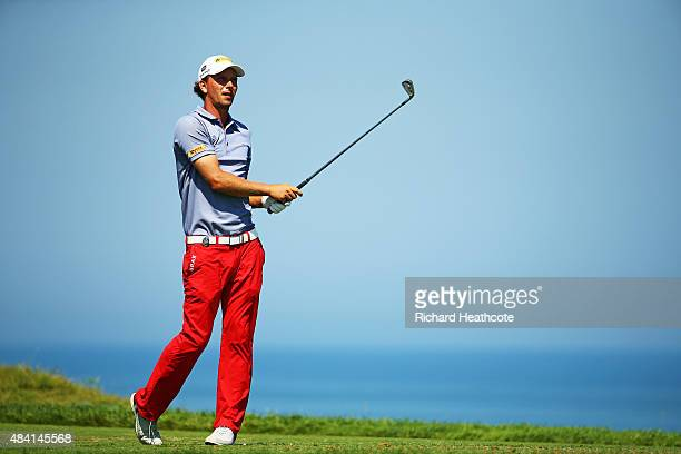 Marcel Siem of Germany hits his tee shot on the third hole during the third round of the 2015 PGA Championship at Whistling Straits on August 15 2015...