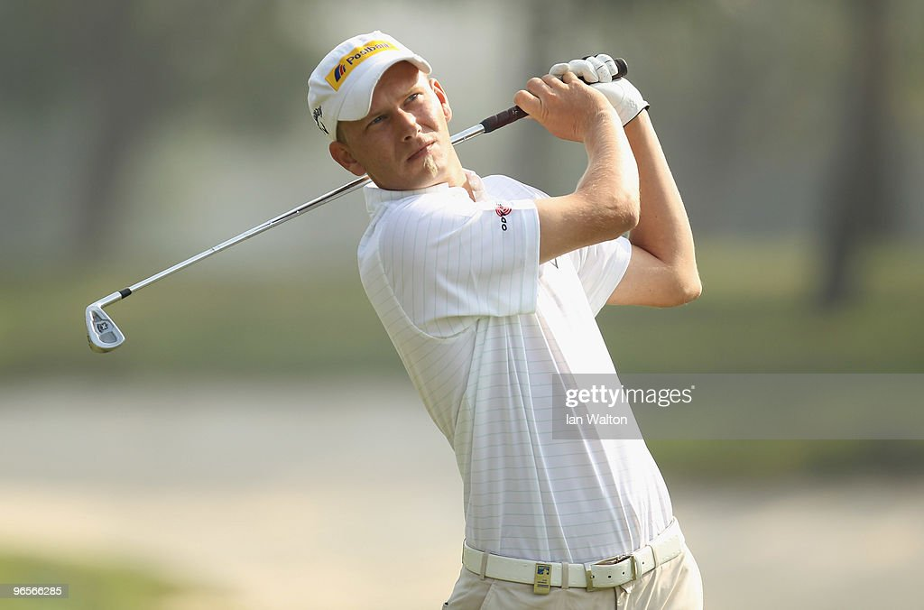 Marcel Siem of Germany in action during Round One of the Avantha Masters held at The DLF Golf and Country Club on February 11 2010 in New Delhi India