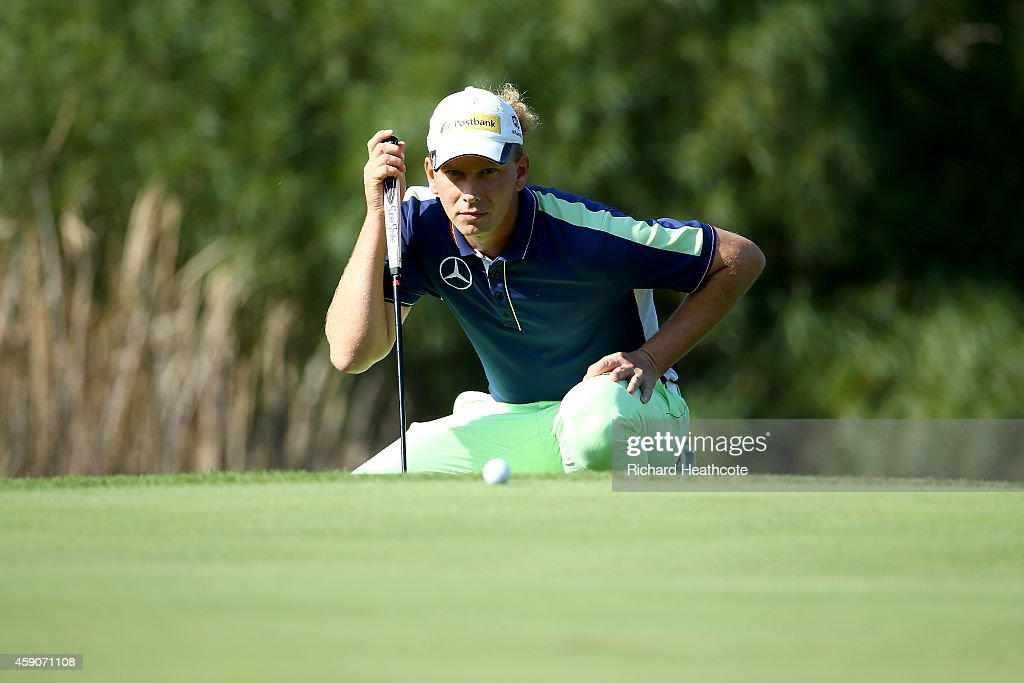 Marcel Siem of Germany in action during the final round of the 2014 Turkish Airlines Open at The Montgomerie Maxx Royal on November 16 2014 in...