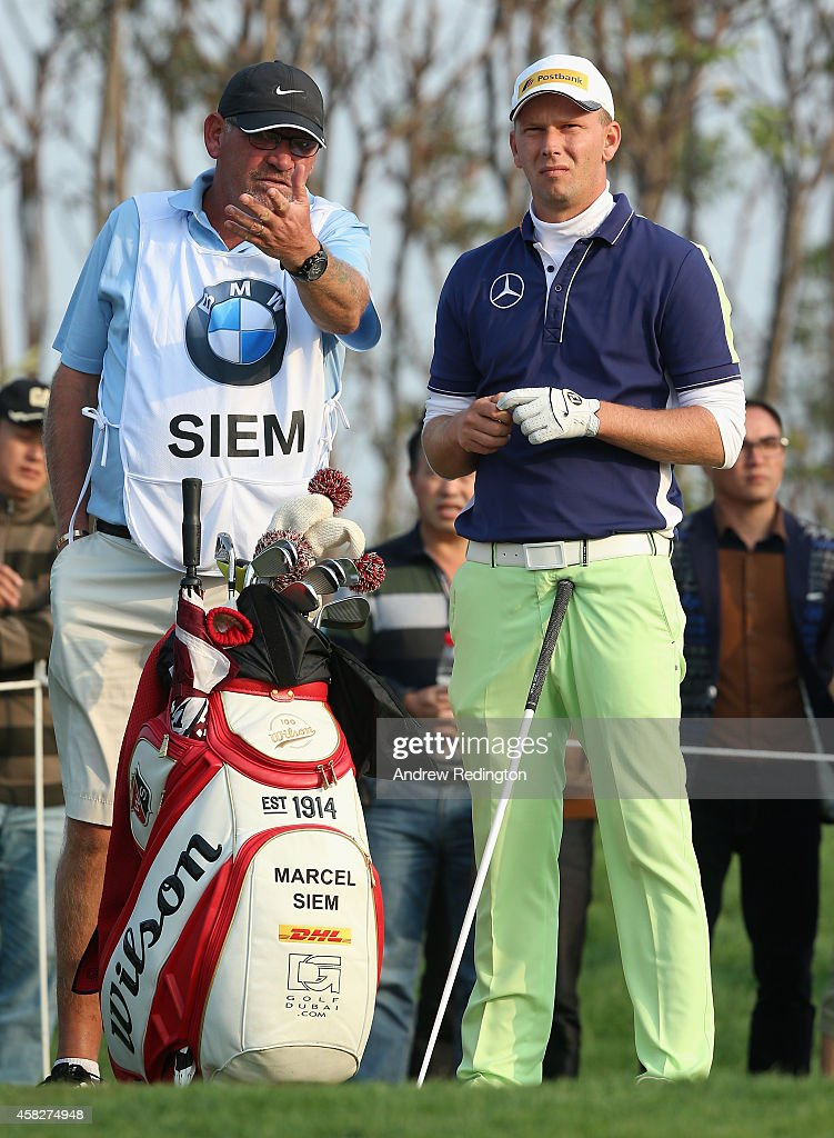 Marcel Siem of Germany in action during the final round of the BMW Masters at Lake Malaren Golf Club on November 2 2014 in Shanghai China