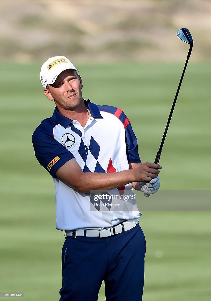 Marcel Siem of Germany in action during the first round of the Omega Dubai Desert Classic at the Emirates Golf Club on January 29 2015 in Dubai...
