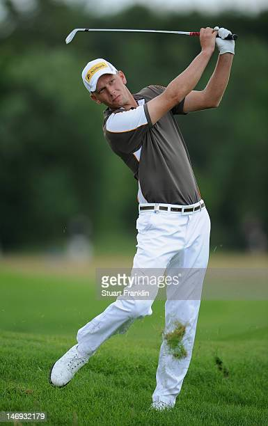 Marcel Siem of Germany in action during the third round of the BMW International Open at Gut Larchenhof golf club on June 23 2012 in Cologne Germany
