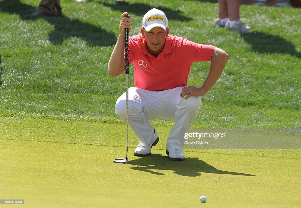 <a gi-track='captionPersonalityLinkClicked' href=/galleries/search?phrase=Marcel+Siem&family=editorial&specificpeople=167180 ng-click='$event.stopPropagation()'>Marcel Siem</a> of Germany lines up his birdie putt attempt on the 16th hole during the final round of the Valero Texas Open at the AT&T Oaks Course at TPC San Antonio on April 7, 2013 in San Antonio, Texas.