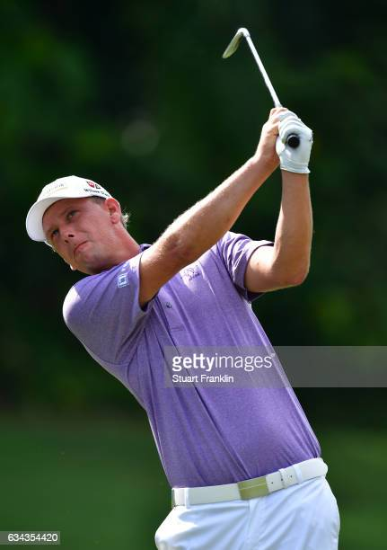 Marcel Siem of Germany plays a shot during Day One of the Maybank Championship Malaysia at Saujana Golf Club on February 9 2017 in Kuala Lumpur...