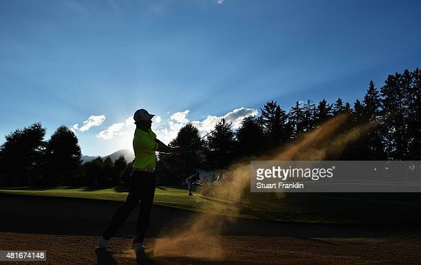 Marcel Siem of Germany plays a shot during the first round of the Omega European Masters at CranssurSierre Golf Club on July 23 2015 in CransMontana...