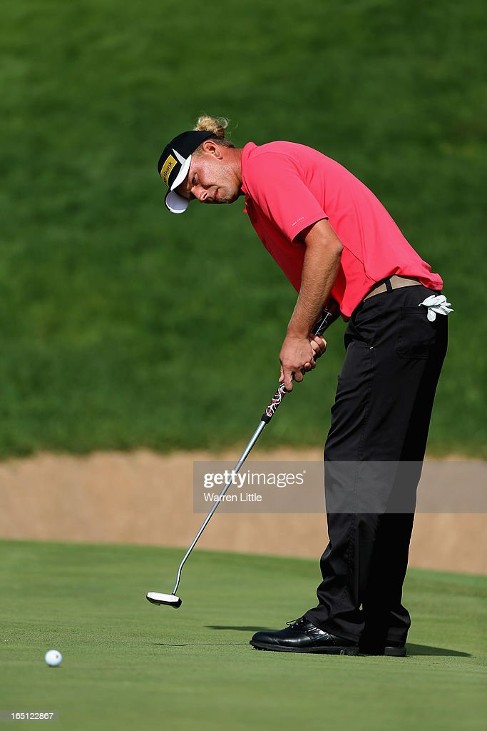 Marcel Siem of Germany putts on the 14th green during the final round of the Trophee du Hassan II Golf at Golf du Palais Royal on March 31, 2013 in Agadir, Morocco.