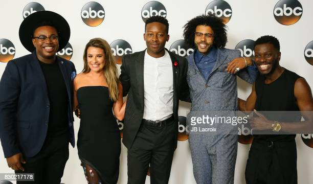 Marcel Spears Brandon Micheal Hall Lea Michele Bernard David Jones and Daveed Diggs attend the 2017 Summer TCA Tour Disney ABC Television Group at...