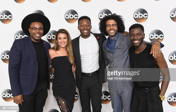 Marcel Spears Lea Michele Brandon Micheal Hall Daveed Diggs and Bernard David Jones attend the 2017 Summer TCA Tour Disney ABC Television Group at...