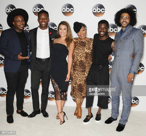 Marcel Spears Lea Michele Brandon Micheal Hall Daveed Diggs and Bernard David Jones attend the Disney ABC Television Group TCA summer press tour at...
