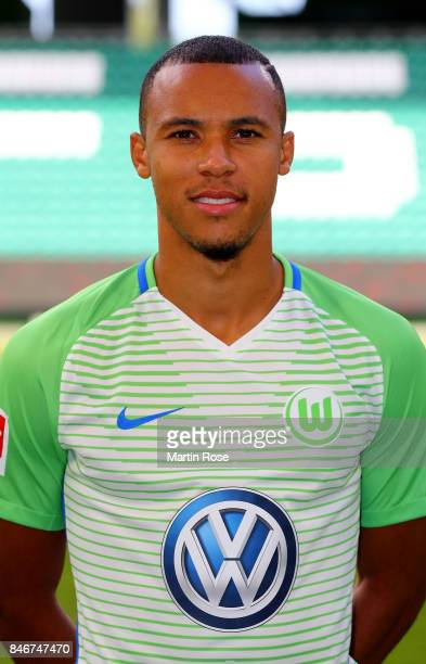 Marcel Tisserand of VfL Wolfsburg poses during the team presentation at on September 13 2017 in Wolfsburg Germany