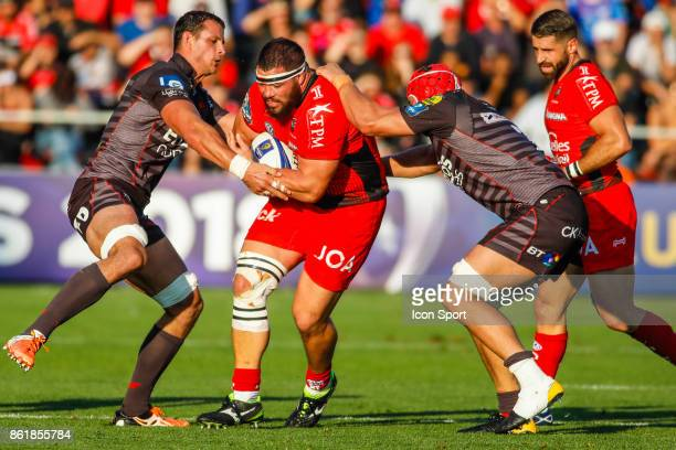 Marcel Van der Merwe of Toulon during the European Champions Cup match between Toulon and Scarlets on October 15 2017 in Toulon France