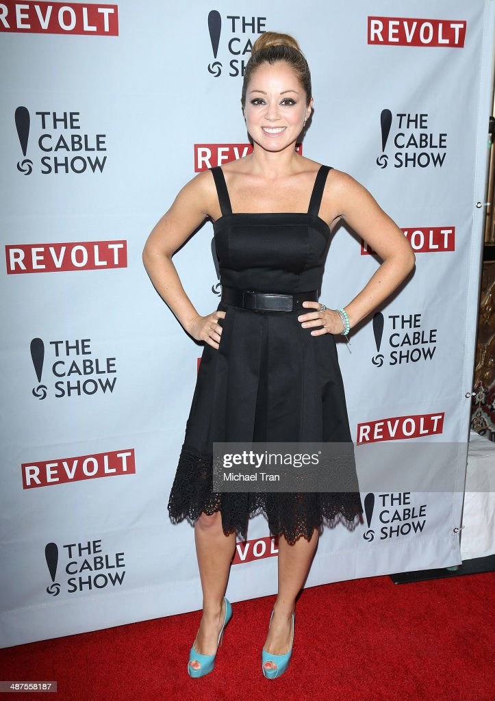 Marcela Valladolid arrives at REVOLT and The National Cable and Telecommunications Association's (NCTA) celebration of cable party held at Belasco Theatre on April 30, 2014 in Los Angeles, California.