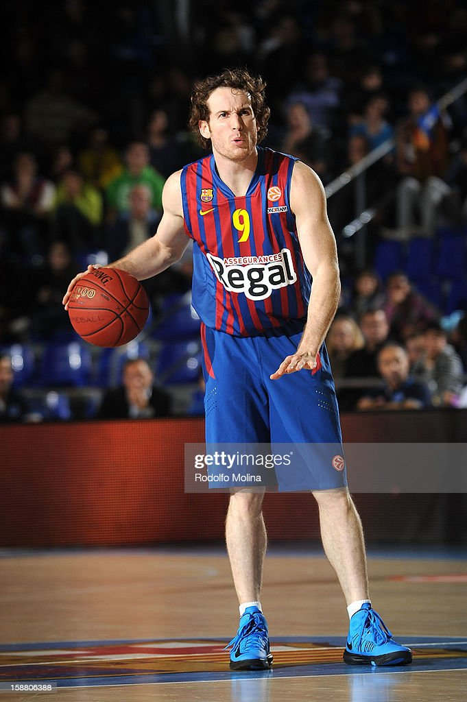 Marcelinho Huertas, #9 of FC Barcelona Regal in action during the 2012-2013 Turkish Airlines Euroleague Top 16 Date 1 between FC Barcelona Regal v Fenerbahce Ulker Istanbul at Palau Blaugrana on December 28, 2012 in Barcelona, Spain.