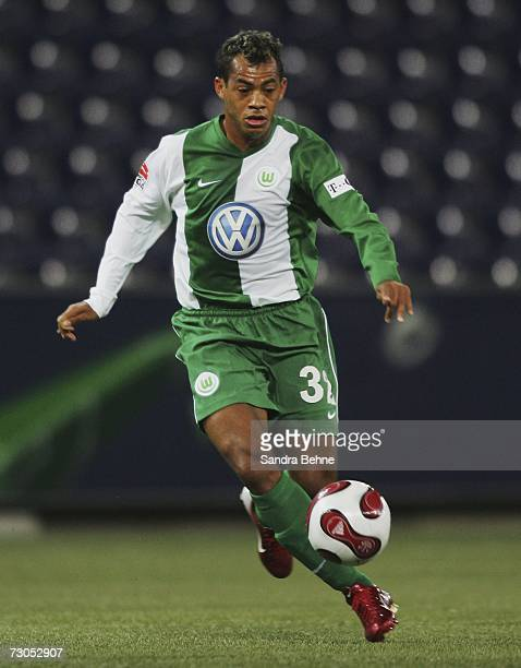 Marcelinho of Wolfsburg runs with the ball during the friendly match between Red Bull Salzburg and VfL Wolfsburg on January 20 2007 in Salzburg...