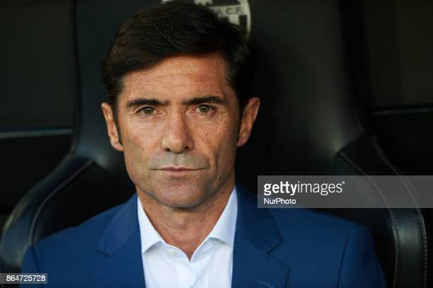 Marcelino Garcia Toral head coach of Valencia CF looks on during the La Liga match between Valencia CF and Sevilla FC at Estadio Mestalla on october...