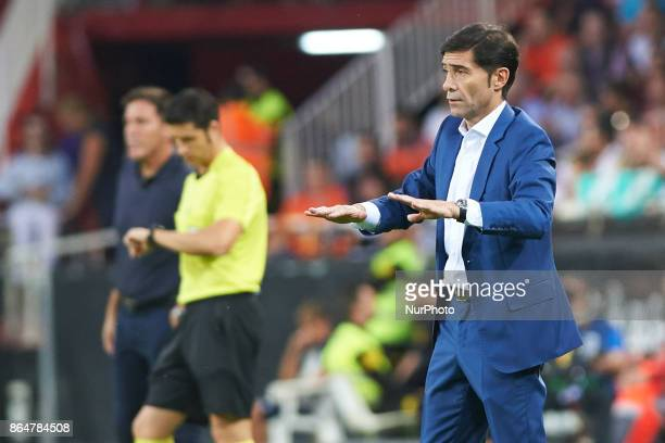 Marcelino Garcia Toral of Valencia CF during the La Liga match between Valencia CF and Sevilla FC at Estadio Mestalla on october 21 2017 in Valencia...