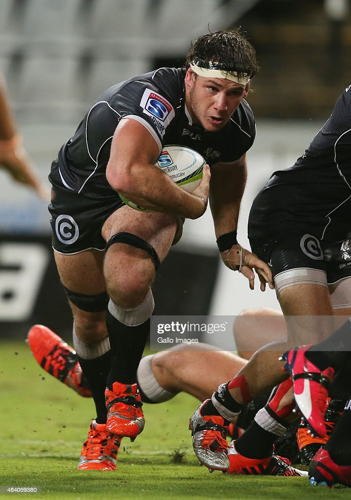 <a gi-track='captionPersonalityLinkClicked' href=/galleries/search?phrase=Marcell+Coetzee&family=editorial&specificpeople=7755005 ng-click='$event.stopPropagation()'>Marcell Coetzee</a> of the Cell C Sharks during the Super Rugby match between Cell C Sharks and Emirates Lions at Growthpoint Kings Park on February 21, 2015 in Durban, South Africa.