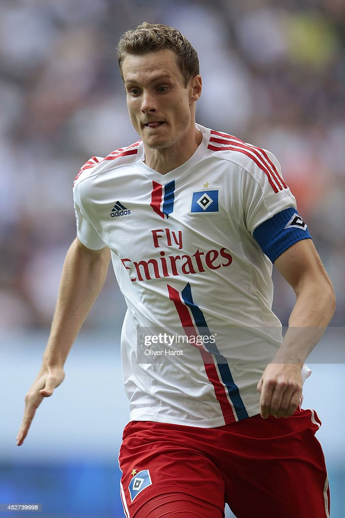 Marcell Jansen of Hamburg during the Telekom Cup 2014 match between Hamburger SV and VfL Wolfsburg at Imtech Arena on July 26 2014 in Hamburg Germany