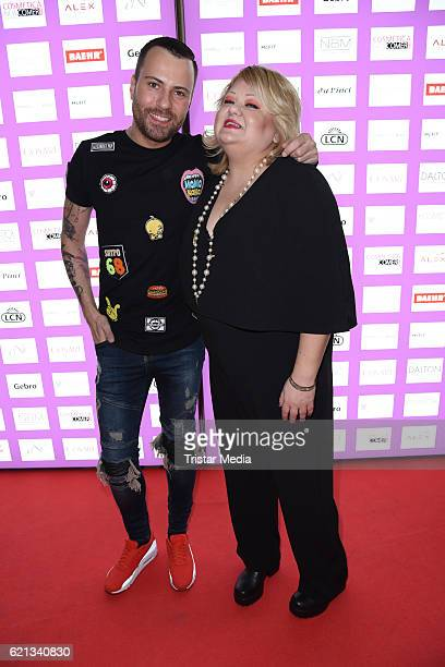 Marcell von Berlin and Betty Amrhein attend the COSMETICA Newcomer Artist 2016 on November 5 2016 in Berlin Germany