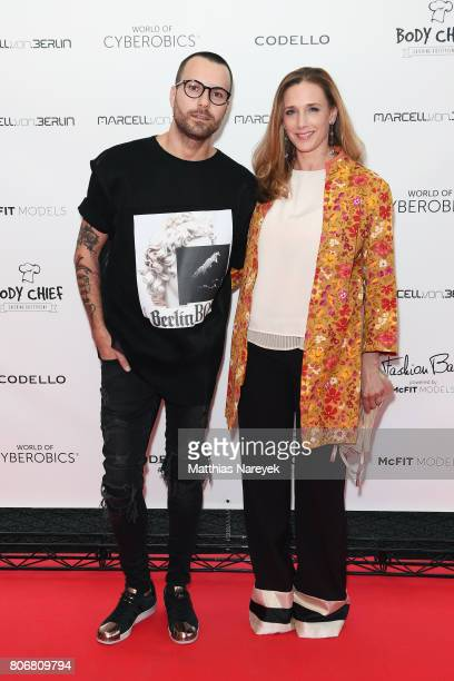 Marcell von Berlin and Kristin Meyer during the Marcell von Berlin 'Genesis' collection presentation on July 3 2017 in Berlin Germany