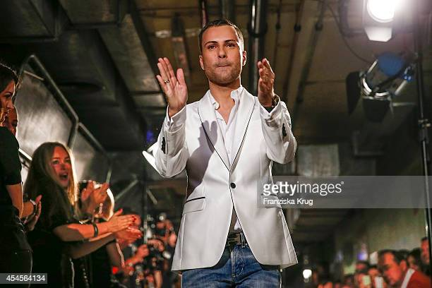 Marcell von Berlin attends the Blurry Garden Couture Collection Presentation in a nuclear bunker on September 03 2014 in Berlin Germany