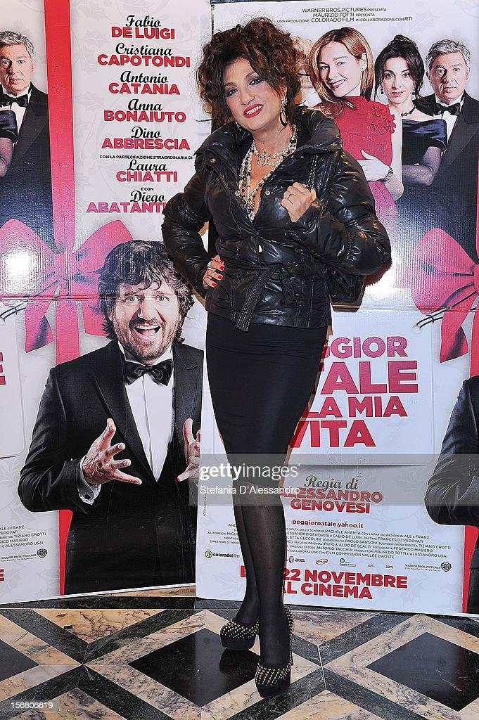 Marcella Bella attends 'Il Peggior Natale Della Mia Vita' Premiere on November 21, 2012 in Milan, Italy.