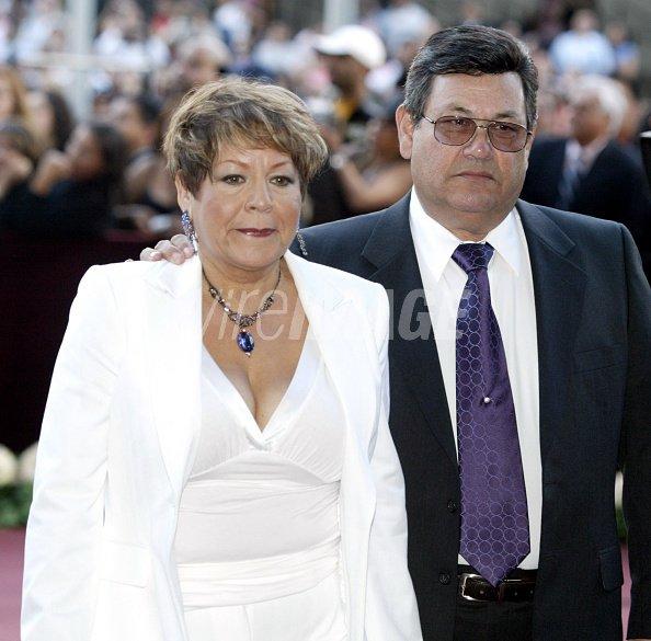 Marcella Quintanilla and Abraham Quintanilla during Selena