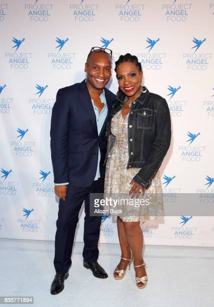 Marcellas Reynolds and actress Sheryl Lee Ralph attend Project Angel Food's 2017 Angel Awards on August 19 2017 in Los Angeles California