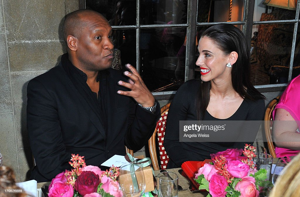 Marcellas Reynolds and Jessica Lowndes attend Lucky Brand's Measure of Style Dinner at Chateau Marmont on June 13, 2013 in Los Angeles, California.